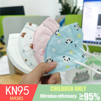 1-10 Year Cute Kids FFP2 Mascarillas 5 Layers Face Mask KN95 Respirator Strawberry Panda Pocket Mask for Children Boys Girls 1