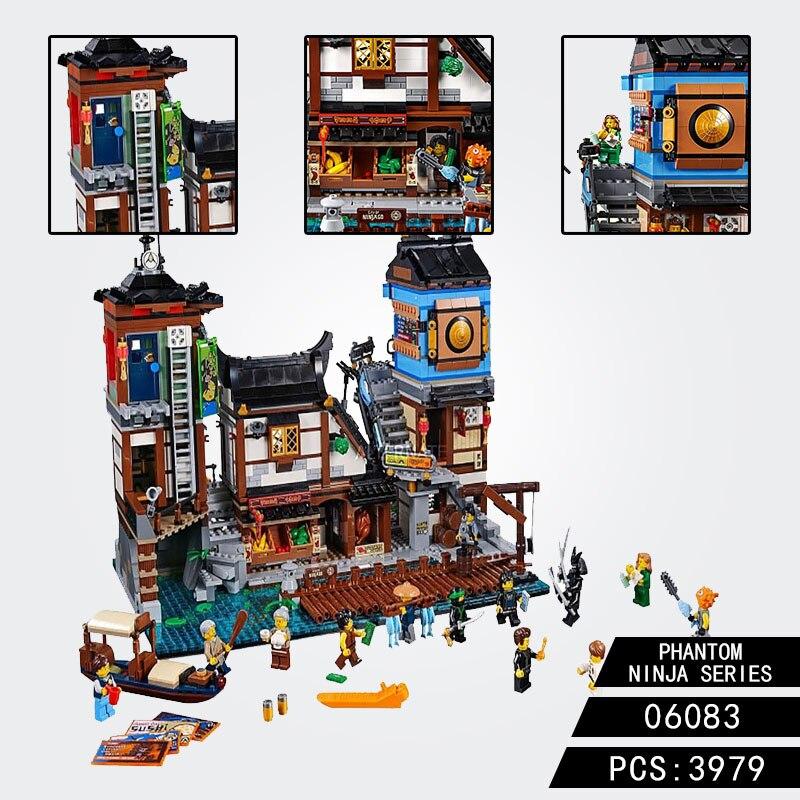 Compatible Legoing Creator City Docks Harbor Boat House Old World Tea Room 10941 06083 Model Building Blocks Toy Bricks Gift
