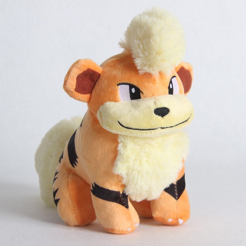 1pcs 25cm Growlithe Plush Toys Dolls Cute Anime Growlithe Pendant Soft Stuffed Toys For Children Kids Birthday Christmas Gift