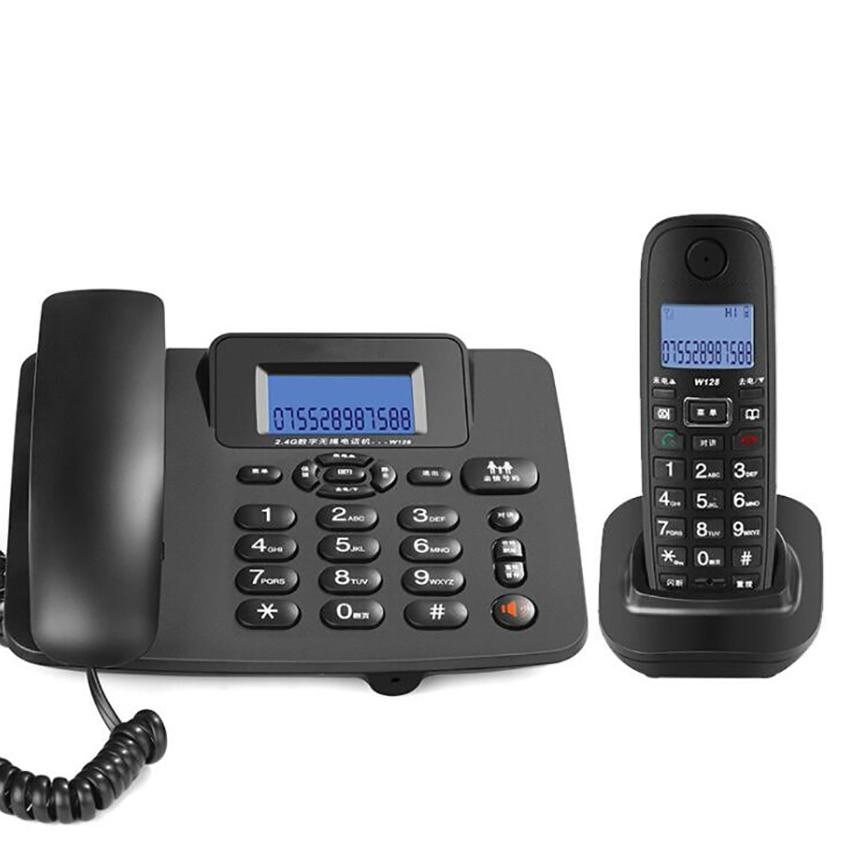 2,4 г проводной/беспроводной телефон Системы с 1 трубкой-автоответчиком, 3-сторонний выход конференции, 300 м большой дальности, Беспроводной т...