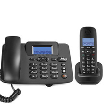 2.4G Corded/Cordless Phone System with 1 Handset - Answering Machine, 3-Way Conference, 300M Long Range, Wireless Telephone