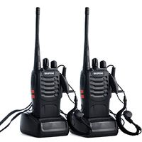 2pcs/lot BAOFENG BF 888S Walkie talkie UHF Two way Radio Baofeng 888s UHF 400 470MHz 16CH Portable Transceiver with Earpiece