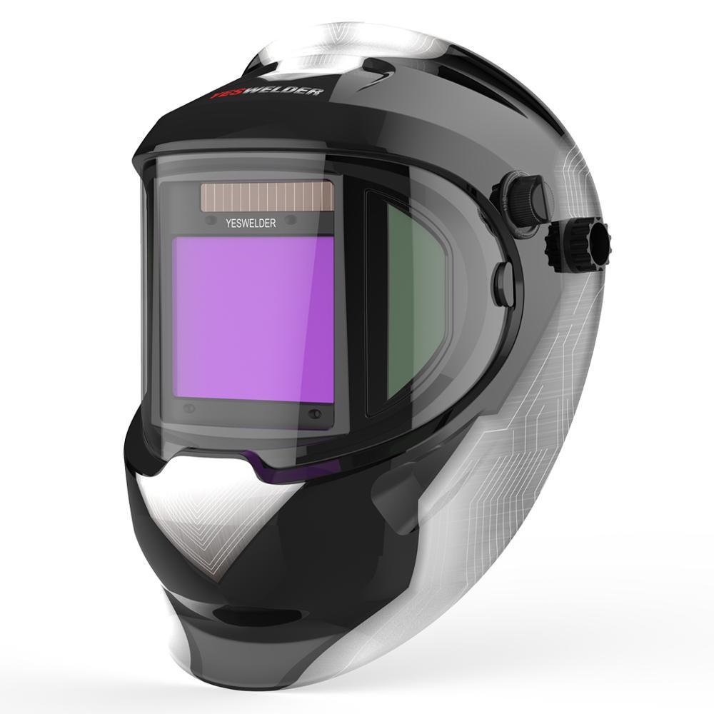 YESWELDER Solar Automatic Welding Helmet True Color Filter 180° View Area Welding Shield MIG TIG ARC Welder Mask Side Windows