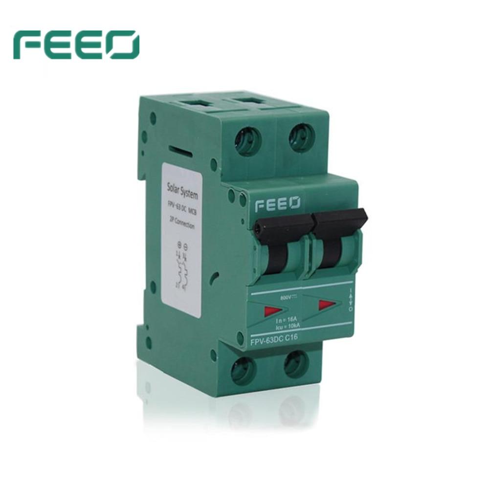 2P 2 Pole 32A 400V 6KA Miniature Circuit Breaker DC Air Switch PV Solar System