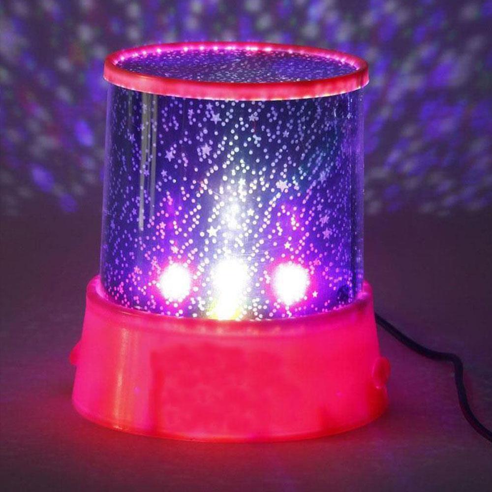 Projector Lamp Romantic Star Sky Night Light Projector Novelty Lighting Pink LED Amazing Master Christmas Gift Dreamlike Baby