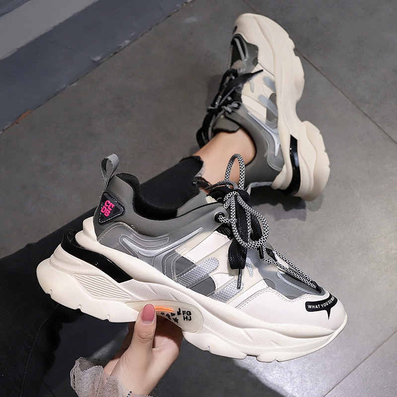 2020 Sneakers Women  Spring New Running Shoes Female Platform White Sports Shoes Big Size 35-40