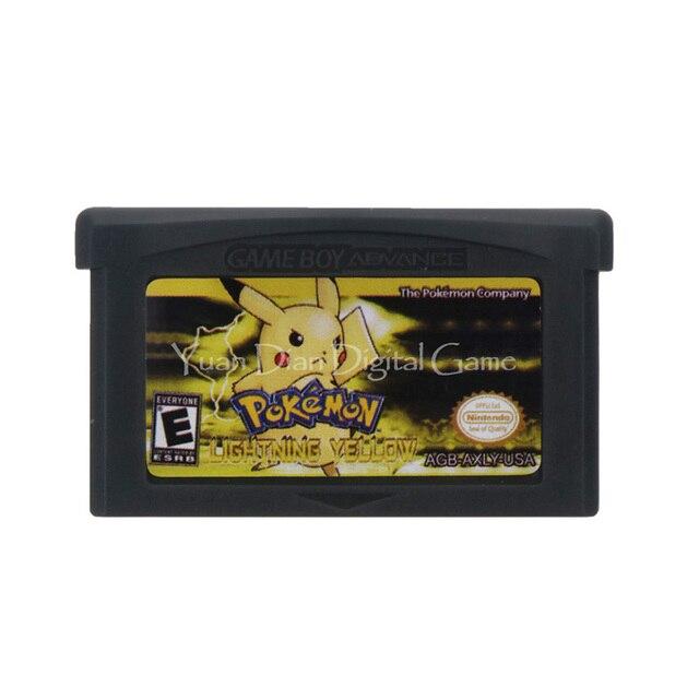 任天堂gbaビデオゲームカートリッジコンソールカード突くシリーズ雷黄色英語us版