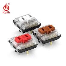 Kailh interruptor de perfil baixo 1350, interruptor de teclado de chocolate rgb smd kailh teclado mecânico haste branca clicky sensação de mão