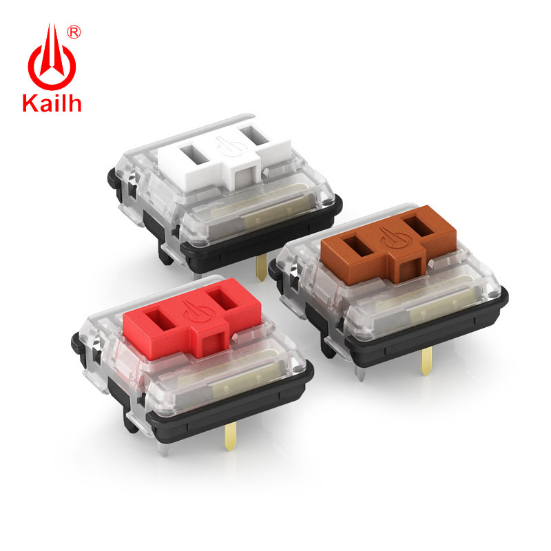 Kailh Low Profile Switch 1350 Chocolate  Keyboard  Switch  RGB SMD Kailh Mechanical Keyboard White Stem Clicky Hand Feeling