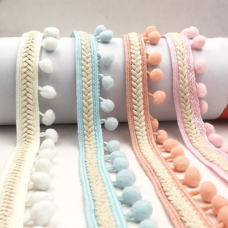1 м винтажная кисточка бахрома отделка помпон отделка мяч кружевная лента вышивка шиньон кружевная ткань для шитья одежды обуви материалы