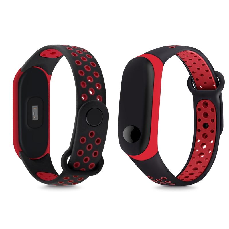 Correa de muñeca deportiva YAYUU para Mi Band 3 4, reloj de pulsera de silicona, banda de repuesto de Color Dual para Xiaomi Miband 3 4, Correa