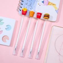 4 Pcs/Set gel pen Burger pens for school Kawaii cute caneta Creative stationery papelaria boligrafo stationary lapices
