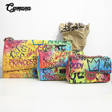 Famous Brand Graffiti Bags For Women Rainbow Color Luxury Handbags Women Bags Designer Shoulder Bags Ladies Purses and Handbags