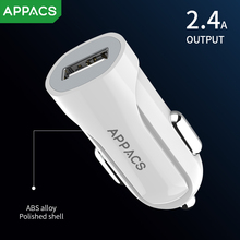 APPACS Mini USB 2.4A Car Charger For Mobile Phone Tablet GPS