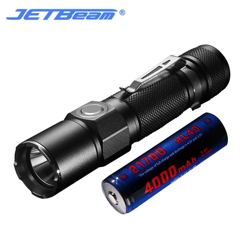 Jetbeam JET-KO02 USB Charge CREE XHP35 1800Lumens LED Flashlight (With Battery)