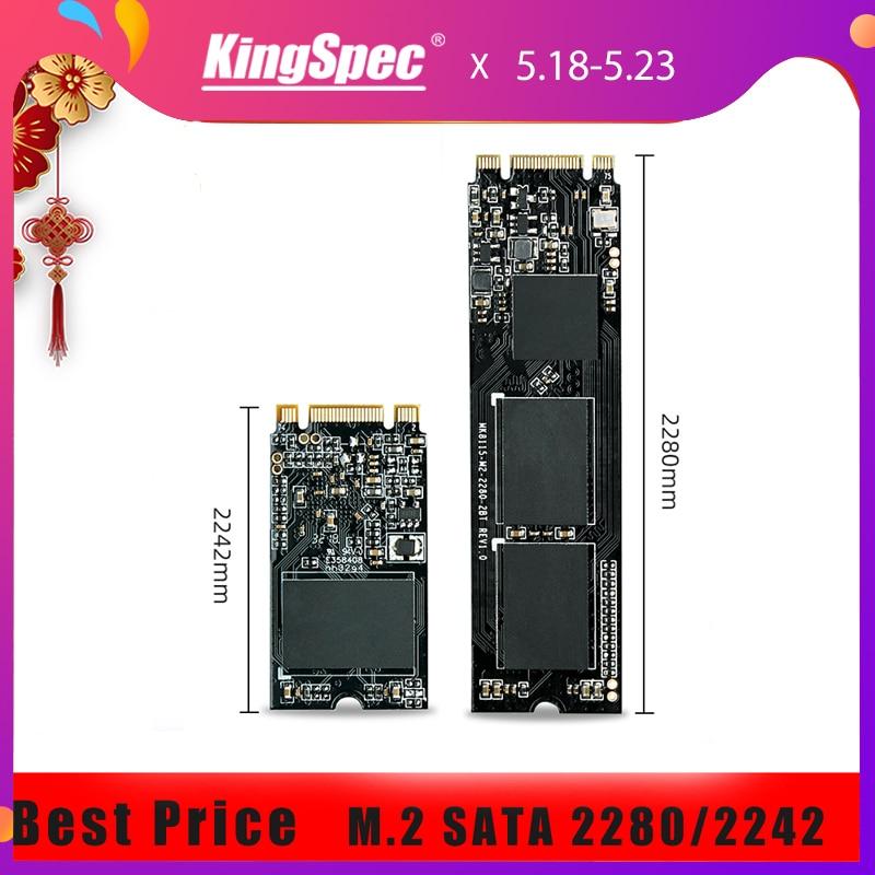 Kingspec 2280 2242 SATA Signal M.2 SSD 128GB 256GB 512GB 1TB M.2 SSD To USB3.0 HDD Box Internal Hard Drive For Laptop/Desktop/PC