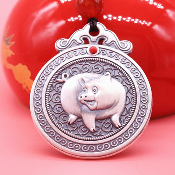 male ms hung 999 sterling silver pendant necklace tags amulet 99 fine silver jewelry children to ward off bad luck