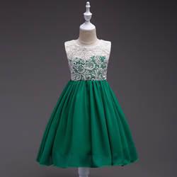 Детское свадебное платье в европейском и американском стиле; шифоновое платье; костюм для девочек; детская юбка-пачка принцессы с