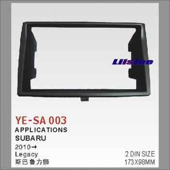 Car Refitting Frame Panel For Subaru Legacy 2010 ABS Fascia Kits 2 Din DVD GPS Stereo Android Head Unit image
