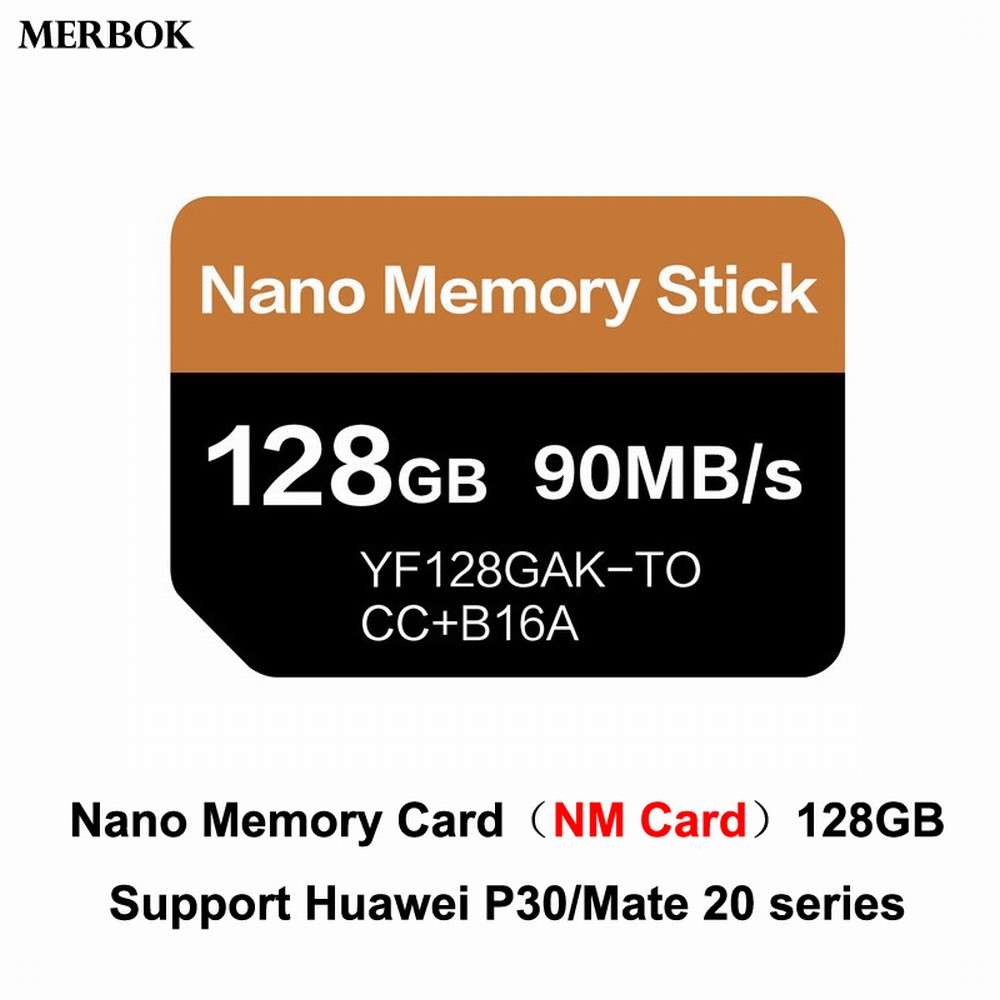 For Huawei Mate20/P30 Pro NM Card Nano Memory Card 128GB 90MB/S NM-Card With USB3.1 Gen 1 Type-C Dual Use TF/NM Card Reader