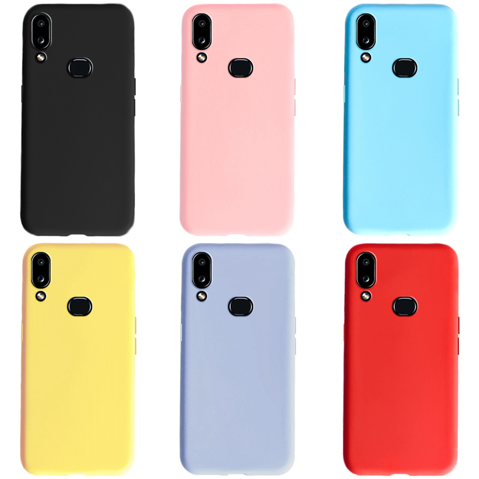 Candy Color Silicone Matte Case For Samsung Galaxy A10s Case TPU ...