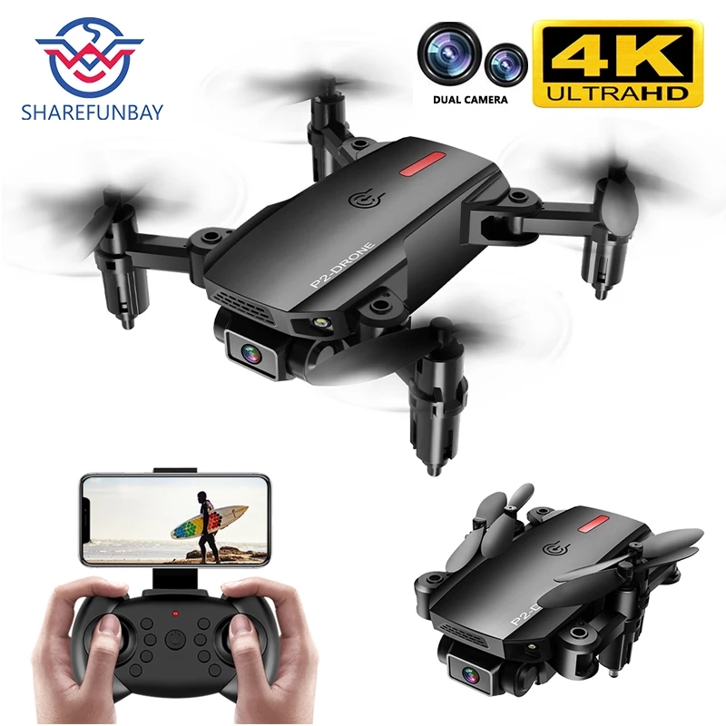 Permalink to 2020 NEW P2 drone 4k HD wide-angle dual camera 1080P WIFI visual positioning height keep rc drone follow me rc quadcopter toys