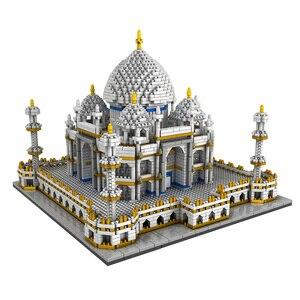 Image 5 - 3950PCS Blocks Set Architecture Landmarks Taj Mahal Palace Model Building Blocks Children Educational Toys 3D Bricks Xmas Gifts