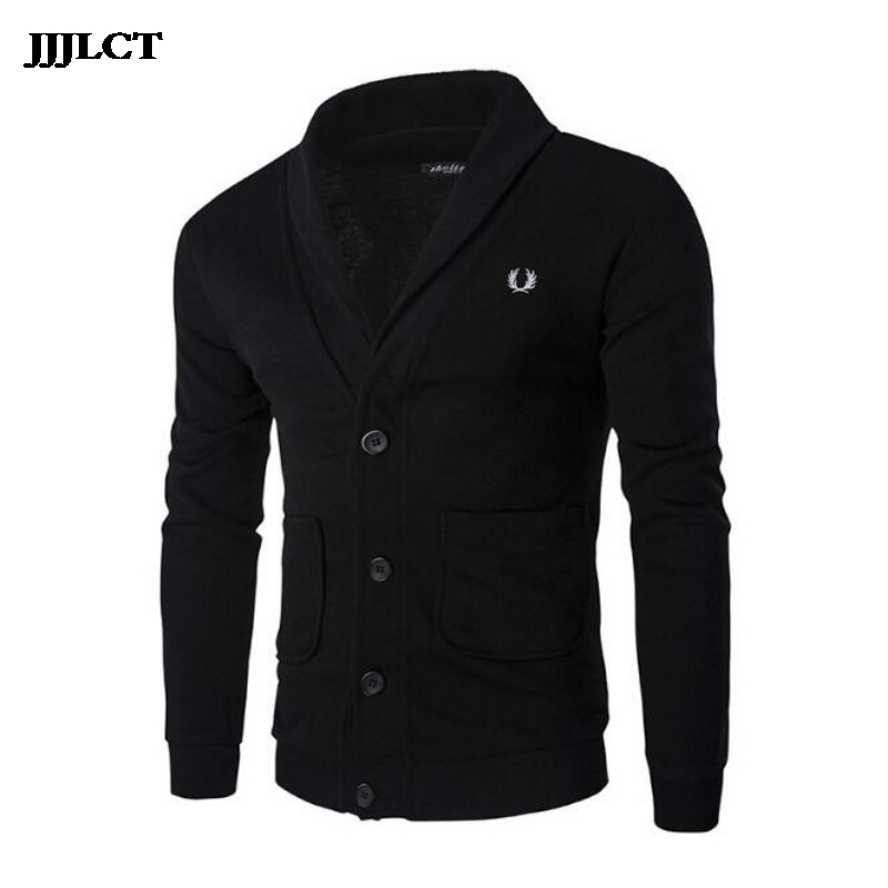 European And American Style Slim Sweater Coat Men's Sweater Spring New Wheat Embroidery Cardigan