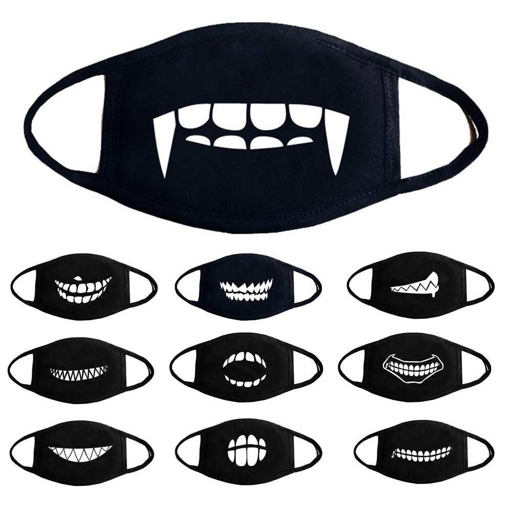 Cotton Fashion Unisex Cartoon Dustproof Half Face Mouth Mask Teeth Breathable