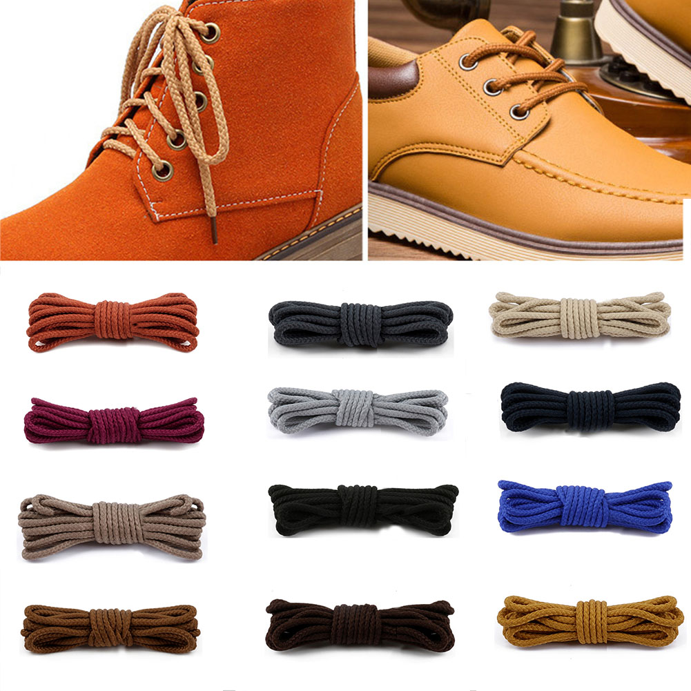 1 Pair 80/100/120/140/160 Cm Solid Color Round Shoelaces For Fashion Casual Sneakers Leather Shoes Martin Boots Laces