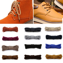 Round Shoelaces Sneakers Martin-Boots Solid-Color Casual for Fashion 1-Pair 140/160cm