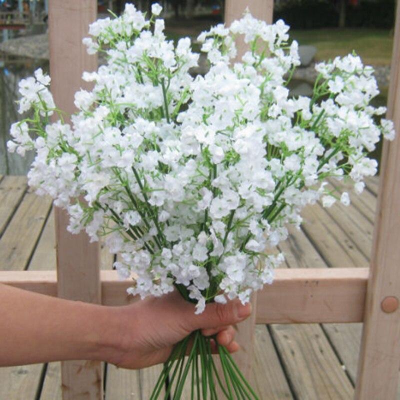 Искусственные белые цветы для младенцев, искусственные Гипсофилы, Цветочные букеты «сделай сам», композиция для свадьбы, домашний декор, цв...
