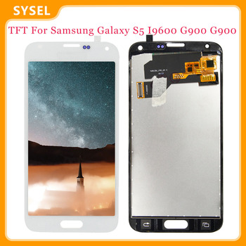 For SAMSUNG Galaxy S5 i9600 Lcd G900 G900A G900F LCD Display Digitizer Touch Panel Screen Assembly+Free Tools image