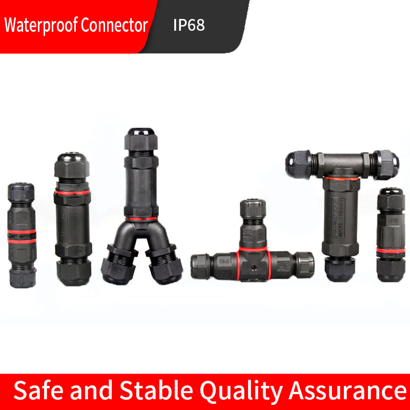 IP68 Waterproof Connector 2/3/4/5 Pin Electrical Terminal Adapter Wire Connector Screw Pin connector LEDLight Outdoor Connection