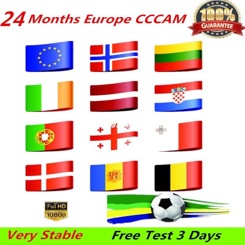 HD 2 Year CCCAM 7 Lines Cline Server Account For Satellite Receiver Spain UK Germany French Italy POLSAT MOVISTAR ES Spain
