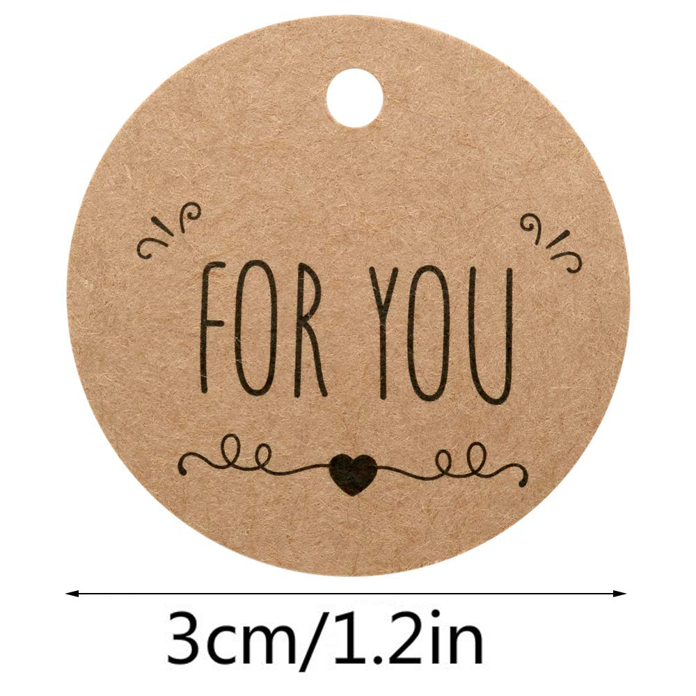 300PCS Kraft Paper Tags Specially For You DIY Wedding Party Gift Decoration Crafts Labels and Snack Bag Cookies Decorative Tags in Party DIY Decorations from Home Garden