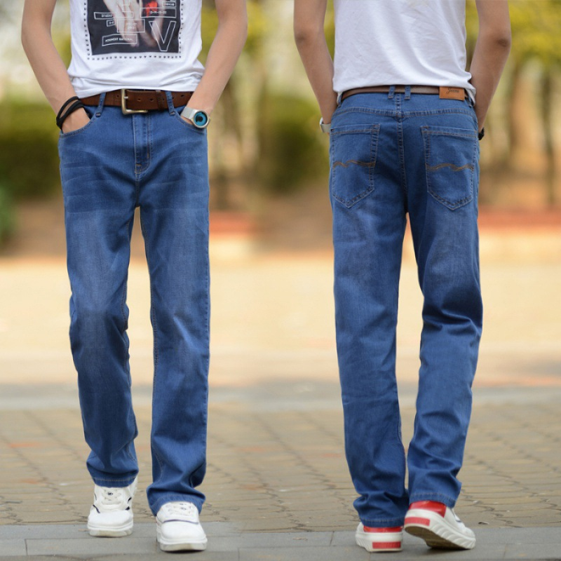 Spring Jeans Men's Loose Straight Elasticity Casual Summer Men Trousers Large Size Business Men's Trousers MEN'S Pants