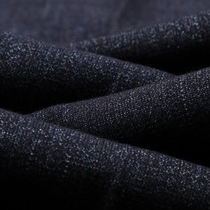 Image 5 - סגנון קלאסי גברים של ישר מכנסי קזואל 2019 החדש מודאלי בד עסקים כהה אפור משלוח חם למתוח מותג מכנסיים