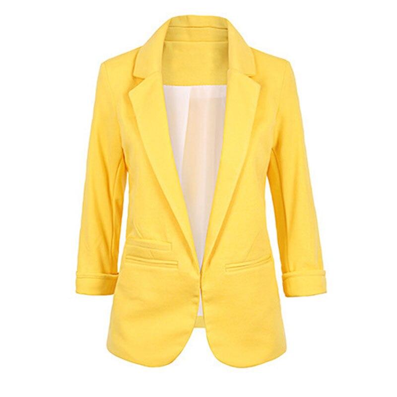 Ladies Plus Size Yellow Blazer Feminino Formal Jacket Women'S White Blazer Female Blue Women Suit Office Ladies 2020