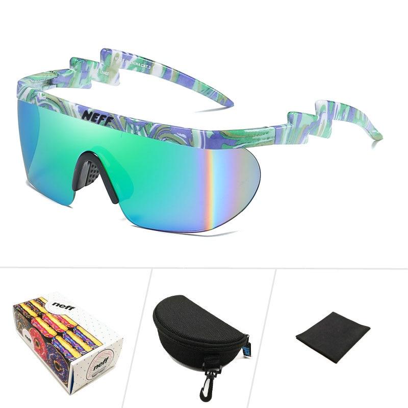 Kilig Neff Sunglasses Men Women Vintage Sport Oversized Goggles Clip on Shades UV40 Protection Sun Glasses Lentes De Sol Mujer