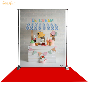 LEVOO Photographic Backdrop Newborn Ice Cream Stand Wooden Photography Background Photo Studio Shoot Props Photophone Vinyl - discount item  35% OFF Camera & Photo