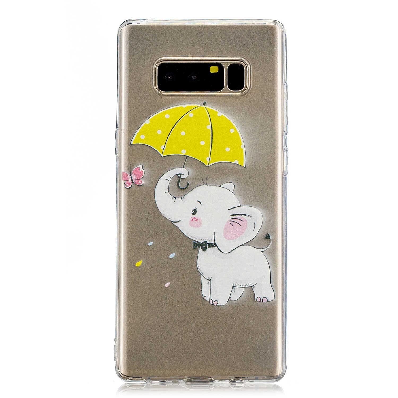 Étui de téléphone portable pour Samsung Galaxy Note 8 N950F luxe TPU Silicone téléphone sacs coques couverture Capa pour Samsung Note8 N950F cas