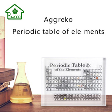 New Acrylic Chemistry Periodic Table Students Study Desktop Decoration Atomic Number Home Office Gift