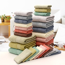 35x75 Multicolor Color 4 Washcloths Towel Set High Quality Siro Spinning Towel Thickened Cotton Highly Absorbent Bathroom Towels