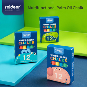 MiDeer Baby Drawing Toys 12Pcs Color Non-Toxic Multifunctional Palm Oil Chalk Water Soluble Dust-free Kids Graffiti Toy