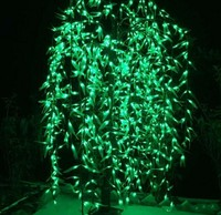 LED Artificial Willow Weeping Tree Light Outdoor Use 1152pcs LEDs 2m/6.6ft Height Rainproof Christmas Decoration