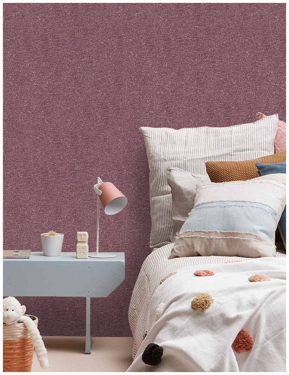 Big Offer #84ac3 - HaokHome Red Sparkly Glitter Wallpaper ...