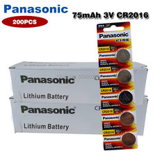 200 шт. PANASONIC 3 в кнопочная монетница Литиевая Батарея CR2016 LM2016 BR2016 DL2016 KCR2016 для основной платы пульт дистанционного управления игрушка