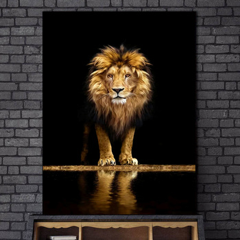 Lion in the Dark Canvas Art Posters And Prints Animals Wall Art Decorative Pictures African Lion Canvas Painting Home Wall Decor bascom african art in cultural perspective clot h