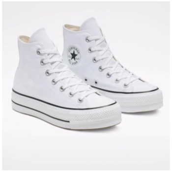 Converse Chuck Taylor All Star Platform Clean High Top Low Heel Black Sneakers Women Shoes Casual Fashion